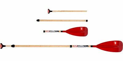 Red Bamboo-Glass Vario Travel 3 Piece SUP Paddle