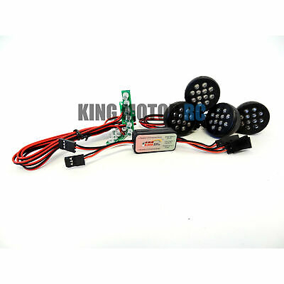 King Motor Bright Led Lights With Pods (4), Plug n Play Fits HPI Baja 5T T1000