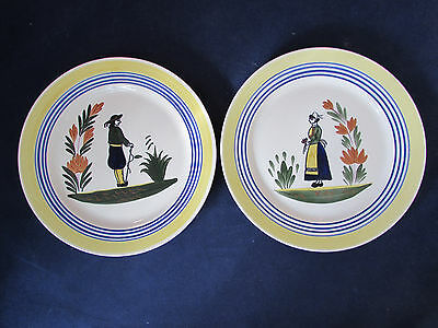 "SET OF TWO - Blue Ridge / Southern Potteries LYONNAISE 9"" Plates"