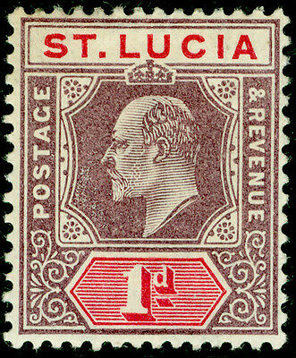 ST. LUCIA SG59, 1d dull purple & carmine, M MINT.
