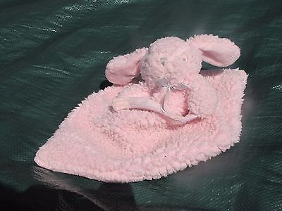 Blankets & Beyond Pink Pacifier Bunny Rabbit Dog Baby Security Lovie Lovey Nunu