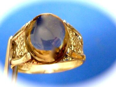 Men's sterling silver smokey quartz ring new old found jewelry stock size 9.5