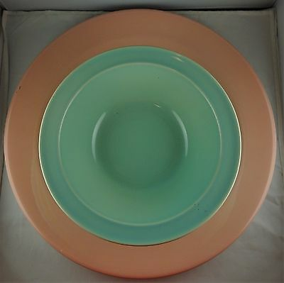 4 Assorted Taylor Smith Taylor Lu-Ray Pastels - 1 Charger, 3 Vegetable Bowls