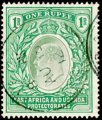 KENYA UGANDA TANGANYIKA  SG26, 1r Green, FINE USED. Cat £60. CDS.
