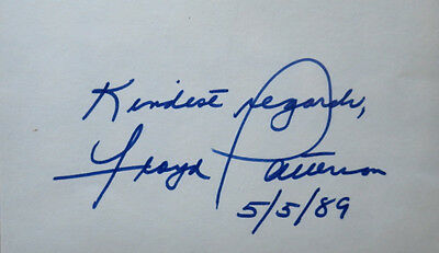 Hvywgt Champion FLOYD PATTERSON - Card  Signed