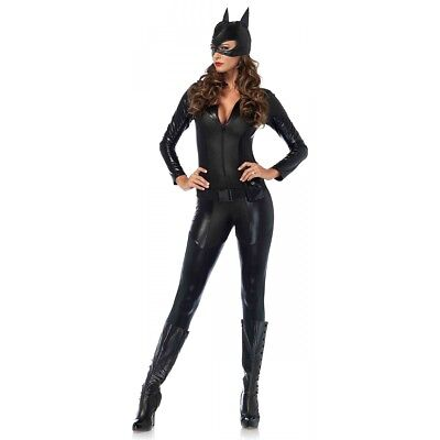 Cat Woman Costume Adult Superhero Halloween Fancy Dress