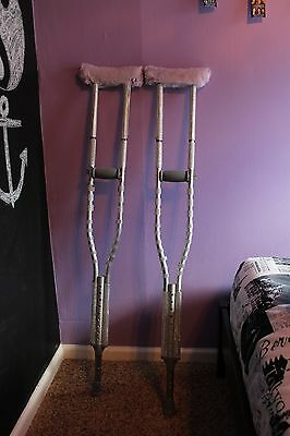 Crystallized Crutches W/ Purple Arm Pit Cushion