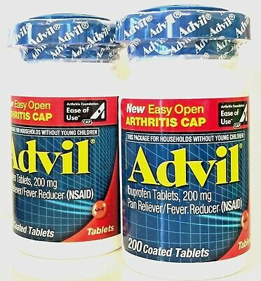 Advil 2 X 200 (400) Count Ibuprofen Tablets (200 Mg) Pain Reliever Exp 03/2018 +