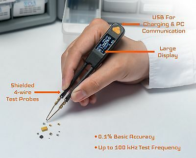 LCR Research Pro1 LCR meter with regular Test Tips / ESR Meter /SMD Tester