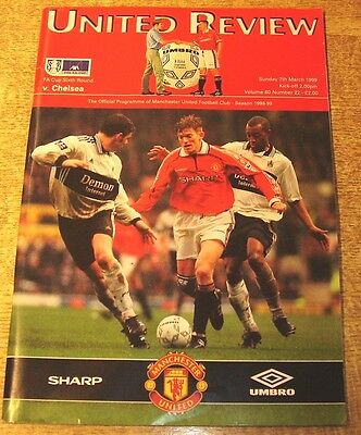1998/99 FA CUP 6TH ROUND - MANCHESTER UNITED v CHELSEA - 7 MARCH 1999