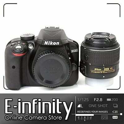 NEW Nikon D3300 Digital SLR Camera (Black) + AF-P 18-55mm f/3.5-5.6 VR Lens