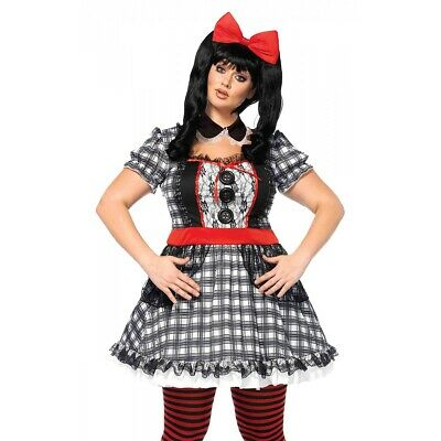 Doll Costume Adult Plus Size Halloween Fancy Dress