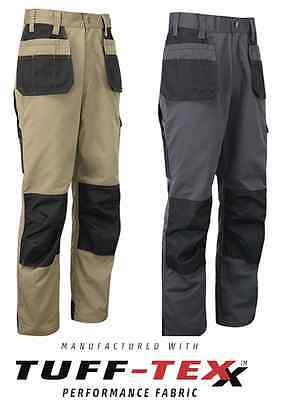 New Mens Tuff Stuff EXCEL Work Trouser Knee Pad Pockets Pouch Pockets 710 30-44