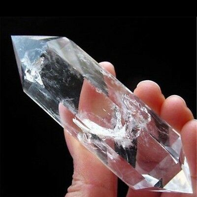 Quality !!! NATURAL CLEAR QUARTZ CRYSTAL WAND POINT HEALING NEW ARRIVAL !