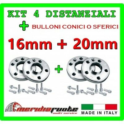 KIT 4 DISTANZIALI PER FIAT PANDA / CROSS 312 DAL 2012 PROMEX ITALY 16mm + 20mm *