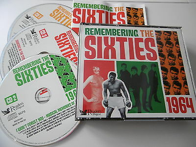 Remembering The Sixties 1964 3 Cd 66 Trk Animals Hollies Faith Shaw Kinks