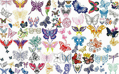 Beautiful Butterfly Embroidery Designs Bulk Pack