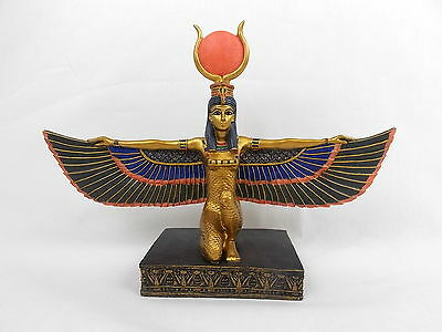 """Egyptian Winged Isis Statue Goddess Health Marriage Wisdom 13"""" Summit 2001 #2481"""