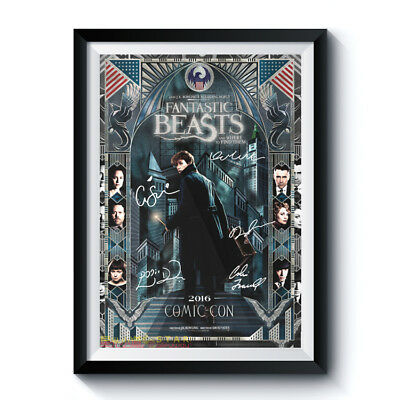 FANTASTIC BEASTS FIND THEM Movie Casts Autograph RPT Poster A4 A3 HARRY POTTER