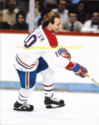 GUY LAFLEUR Turns on THE ROCKETS 8x10 Photo MONTREAL CANADIENS HOF GREAT WoW