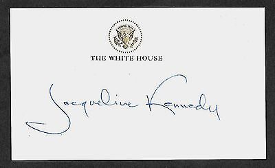 Jacueline Jackie Kennedy Autograph Reprint Appears Authentic On 3x5 Card