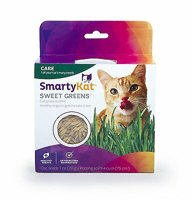 SmartyKat Sweet Greens Cat Grass Kit,sprouts of certified organic oat [9700] AOI