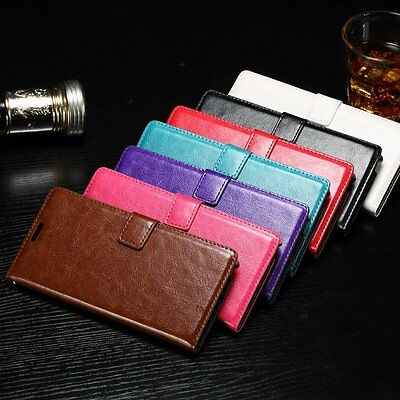 Vintage PU Leather Wallet Flip Stand Card Case Cover For Samsung Galaxy Note 5