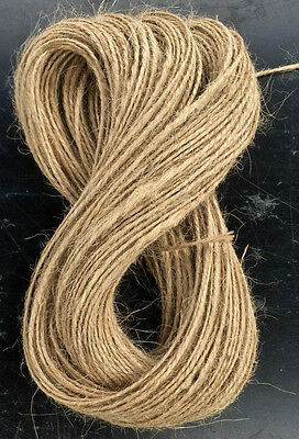 Cheap 50m Rustic Natural Jute Hessian Burlap Twine Tag String Ribbon Cord Thread