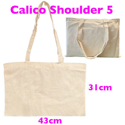 A3 Library Calico Bag Bulk Tote Calico Bags Style 5  H31cm*W43cm Pkts:1-200
