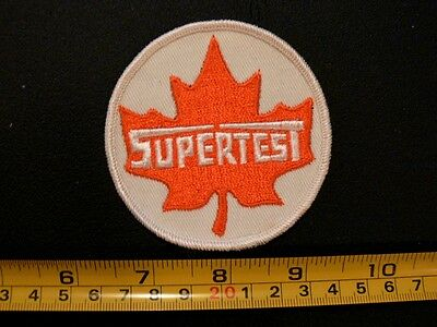 "Embroidered patch SUPERTEST gasoline oil gas 3""  GUARANTEED ORIGINAL NOS vintage"