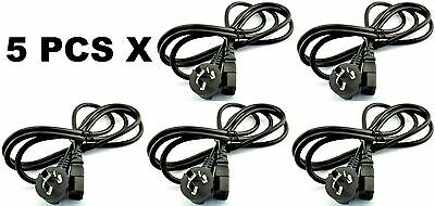 5 x Australian Wall-Socket Power Cord Computer/Monitor/Kettle 3-Pin Lead Cable