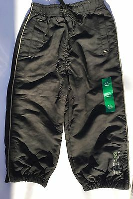 Boys Black Camouflage Print Trousers