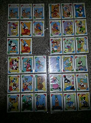 Lot of Vintage Walt Disney Mickey Mouse Impel Cards, Family Portrait 1990s