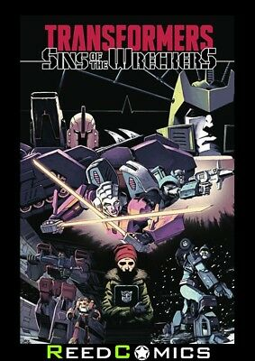 TRANSFORMERS SINS OF THE WRECKERS GRAPHIC NOVEL Paperback Collects 5 Part Series