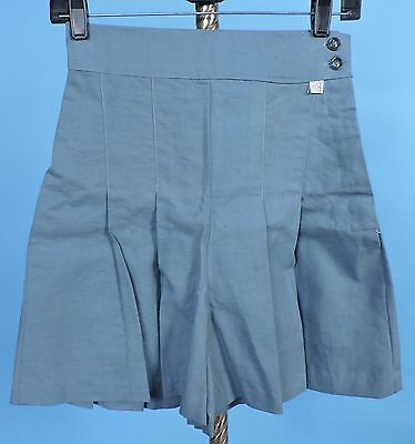 1930'S Vintage Cotton Sporting Shorts W Pleat Flared Legs