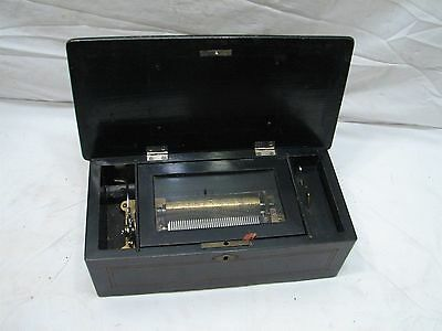 Early Antique Cylinder Music Box 5 Aires/Songs/Tune 40 Note
