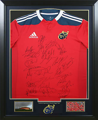 Munster Rugby SIGNED FRAMED Autograph Jersey Memorabilia + COA EXACT PROOF