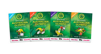 Official Australian Olympic RIO Pin Collection 2016 Full Set of 4 Pins Australia