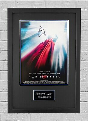 Henry Cavill Signed & Framed 16X12 Photo Man of Steel Autograph AFTAL COA (B)
