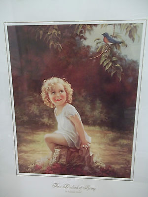 Vintage Style First Bluebird of Spring by Adelaide Hiebel Print