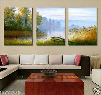 HUGE Hand Painted MODERN ABSTRACT WALL ART OIL PAINTING ON CANVAS No Frame 3P