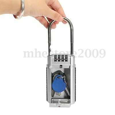 New 4 Digit Combination Password Safety Key Box Lock Padlock Keys Storage