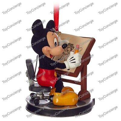 DISNEY Store 2016 SKETCHBOOK CHRISTMAS Ornament MICKEY MOUSE ANIMATOR NWT