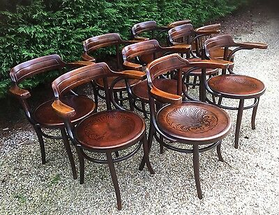 Large Collection Of Vintage Bentwood Armchairs - Fab Condition  We Can Deliver