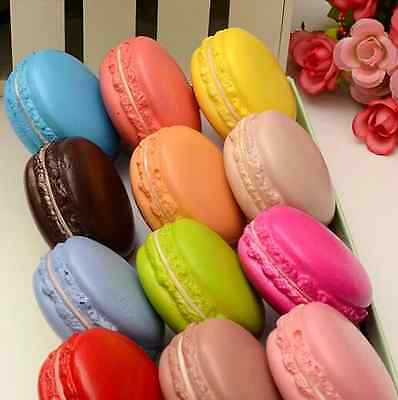 Soft Macaron Kawaii Squishy Bread Keychain Bag Phone Charm Strap Pendant