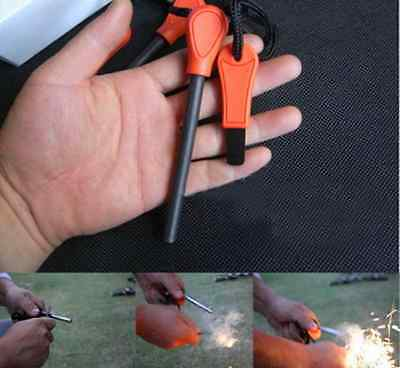 Large Emergency Magnesium Flint Fire Starter Rod Lighter Camping Survival Tool