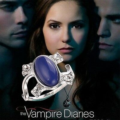 Anime Vampire Diaries Elena's Vintage Opal Wedding Engagement Glamour Ring