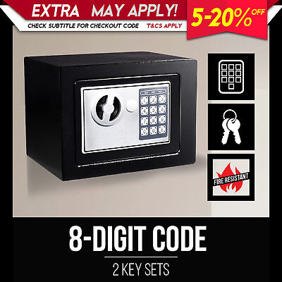 NEW Personal Digital Electronic Security Home Office 23x17x17cm Case Safe Box