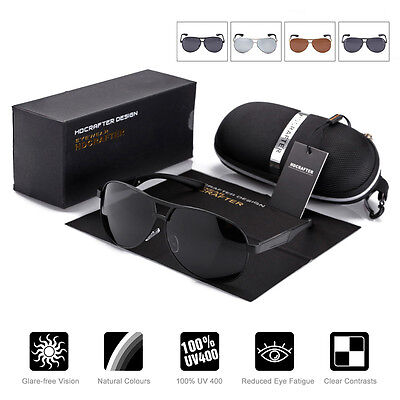 Polarized Men's Retro Outdoor Aviator Sunglasses Glasses Eyewear UV400 100% +box