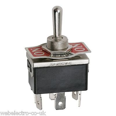 09051 Heavy Duty 6P DPDT 3 Positions ON-OFF-ON Toggle Switch 10A 250VAC